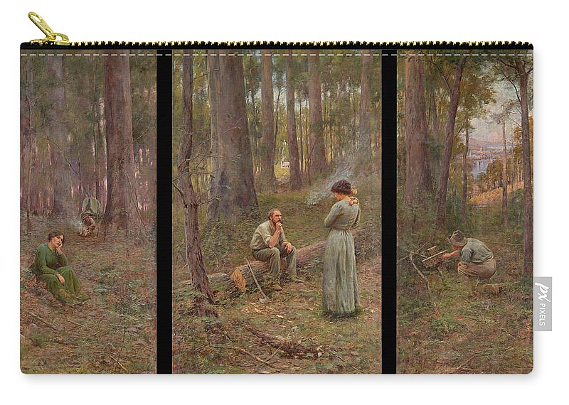 Frederick Mccubbin Carry-all Pouch featuring the painting The pioneer by Frederick McCubbin
