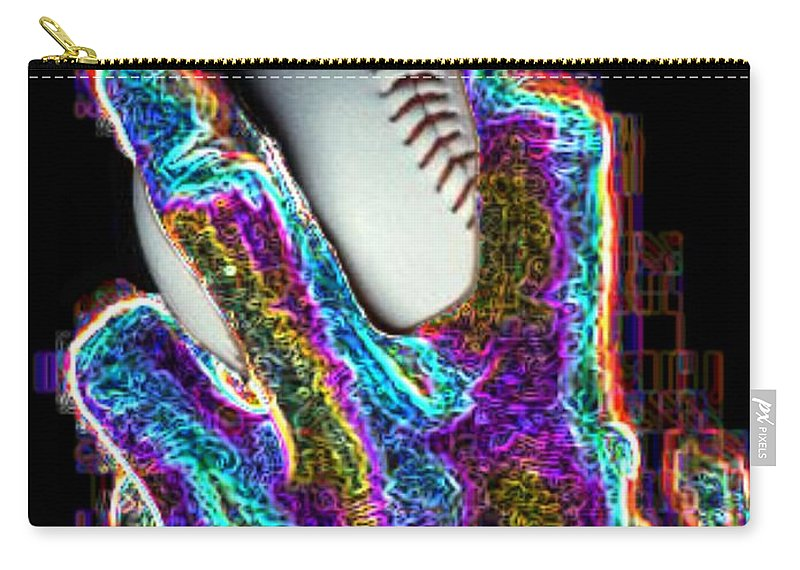 Baseball Carry-all Pouch featuring the photograph The Pitch by Tim Allen