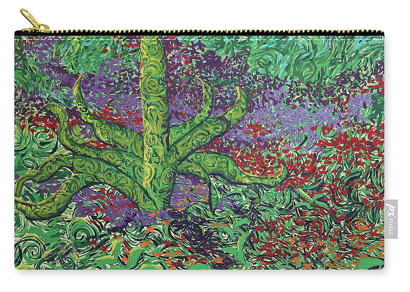 Landscape Carry-all Pouch featuring the painting The Plant by Stefan Duncan