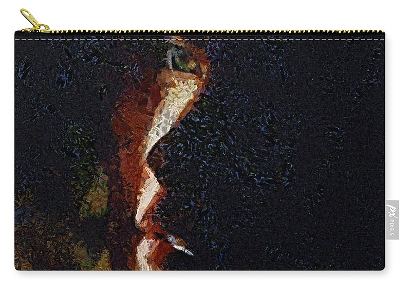 Face Carry-all Pouch featuring the painting The Play Of Light by Dragica Micki Fortuna