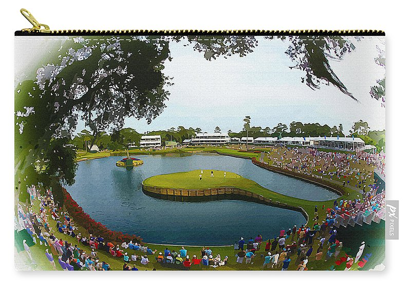 Canada Carry-all Pouch featuring the digital art The Players Championship 2014 by Don Kuing