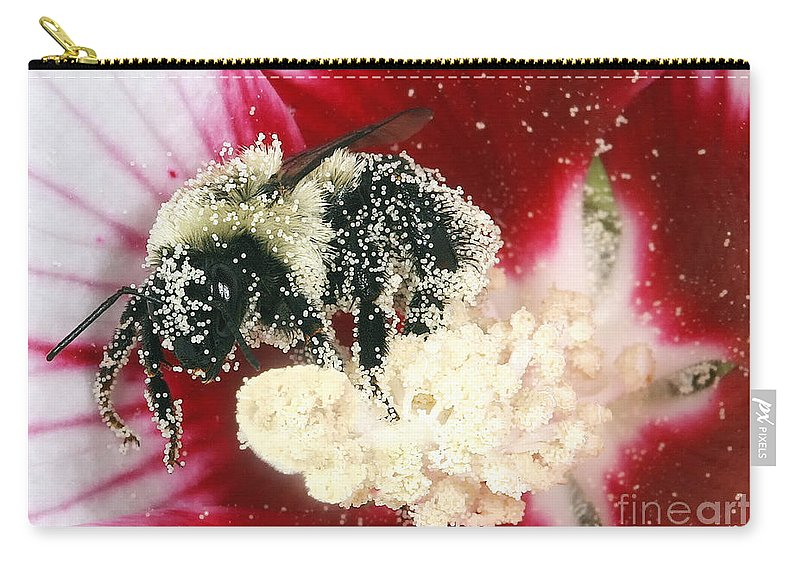 Bees Carry-all Pouch featuring the photograph The Pollinator by Geoff Crego