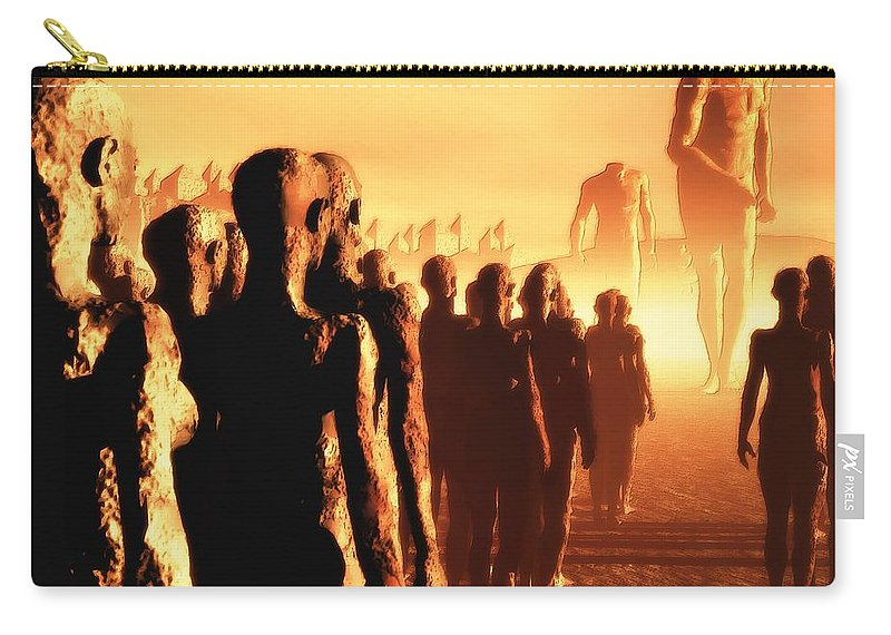 Apocalyptic Carry-all Pouch featuring the digital art The Post Apocalyptic Gods by John Alexander