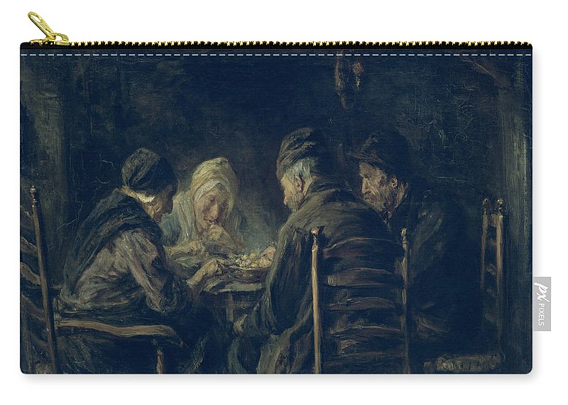 Dinner Carry-all Pouch featuring the painting The Potato Eaters, 1902 by Jozef Israels