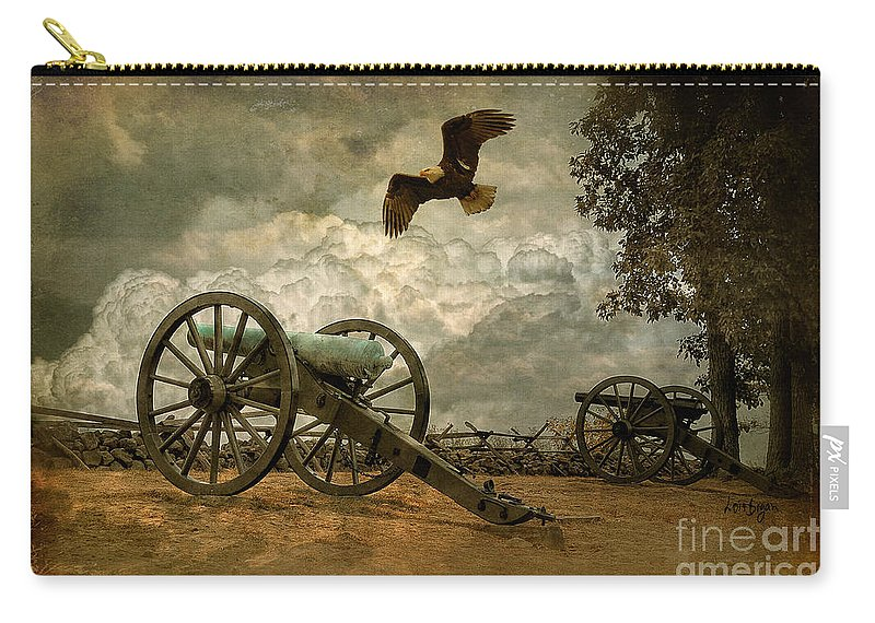 Canon Carry-all Pouch featuring the photograph The Price Of Freedom by Lois Bryan