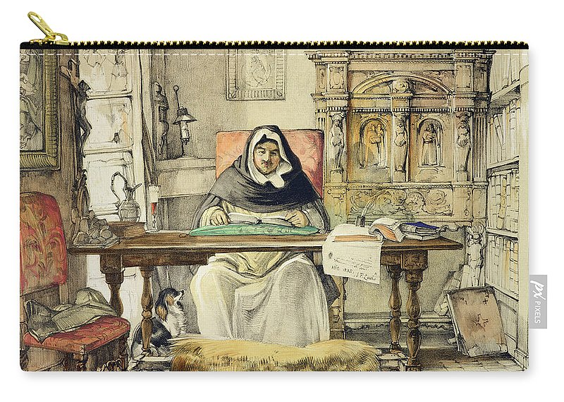 Probably The Toledo Monastery Carry-all Pouch featuring the drawing The Prior, From Sketches Of Spain by John Frederick Lewis