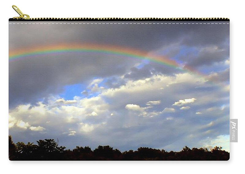 Rainbow Carry-all Pouch featuring the photograph The Promise by Deena Stoddard