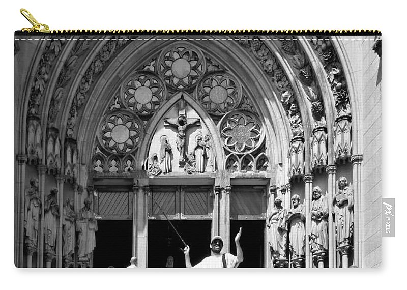 Man Carry-all Pouch featuring the photograph The Prophet - Sao Paulo by Julie Niemela