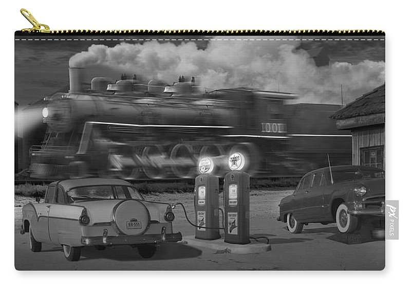 Transportation Carry-all Pouch featuring the photograph The Pumps - Panoramic by Mike McGlothlen