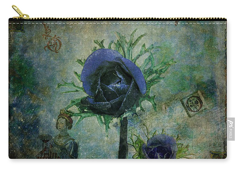 Fine Art Print Carry-all Pouch featuring the digital art The Queen's Post by Patricia Griffin Brett
