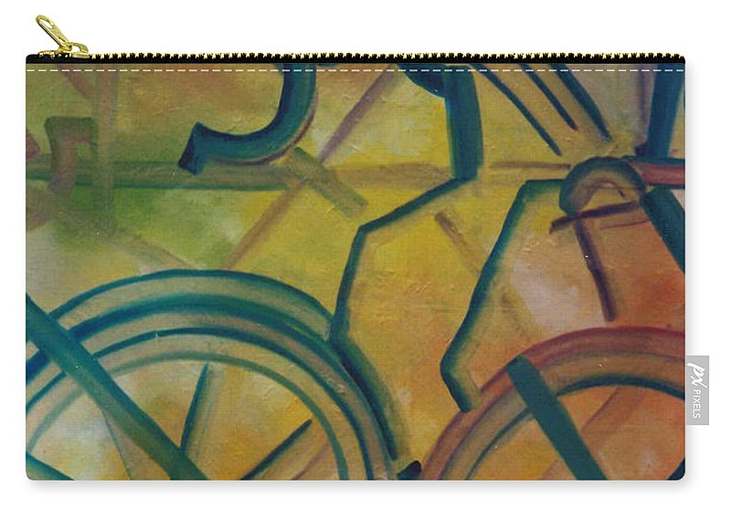 Race Carry-all Pouch featuring the painting The Race by Lord Frederick Lyle Morris - Disabled Veteran