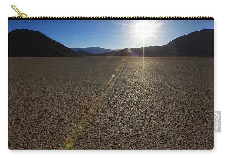 Racetrack Carry-all Pouch featuring the photograph The Racetrack by Susan Rovira
