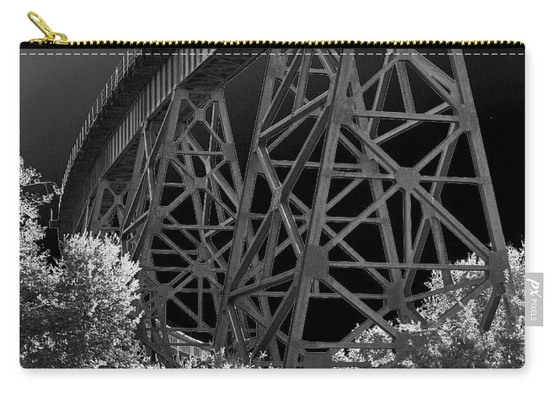 Railroad Carry-all Pouch featuring the photograph The Rail by Athala Carole Bruckner