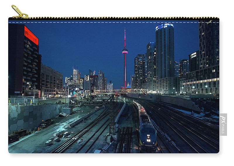 Train Carry-all Pouch featuring the photograph The Railway Lands Toronto by This Image