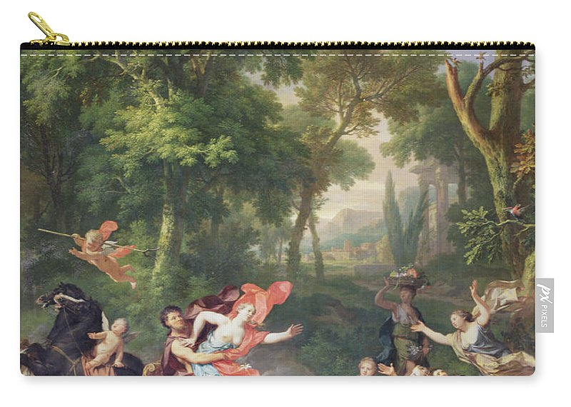 Pluto Carry-all Pouch featuring the painting The Rape Of Proserpine by Jan van Huysum
