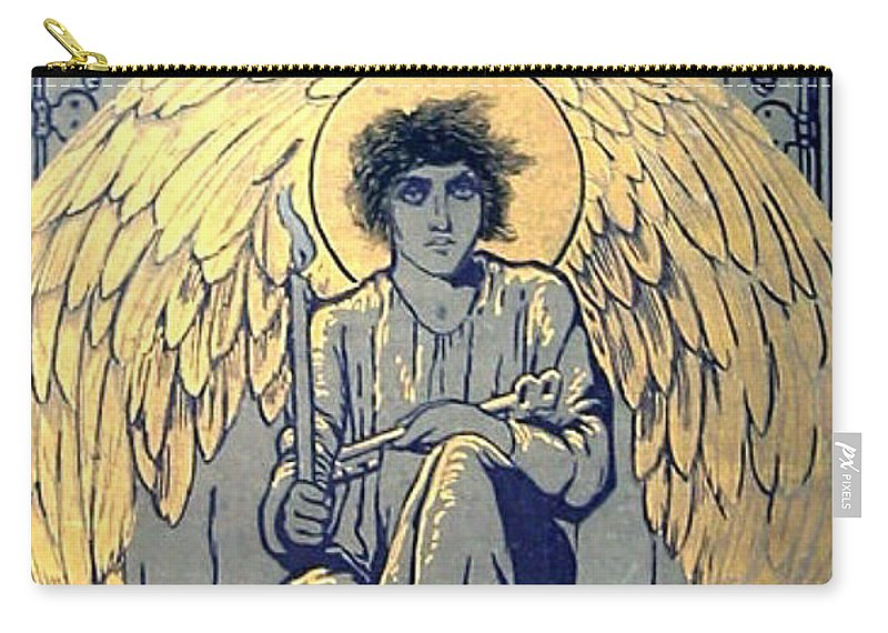 Book Carry-all Pouch featuring the digital art The Raven By Edgar Allan Poe Book Cover by Philip Ralley