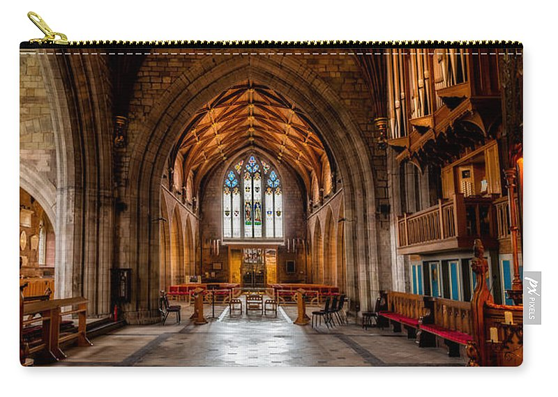 Welsh Cathedral Carry-all Pouch featuring the photograph The Reading Room by Adrian Evans