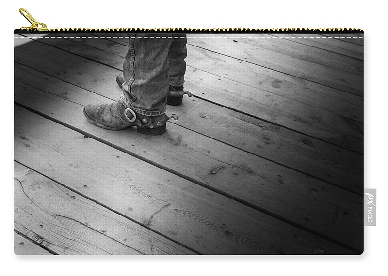 Cowboy Carry-all Pouch featuring the photograph The Real Deal by Fran Riley