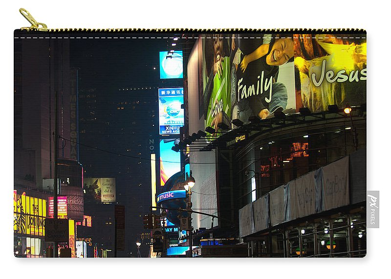 """""""new York City"""" Carry-all Pouch featuring the photograph The Real Meaning Of Christmas by Paul Mangold"""