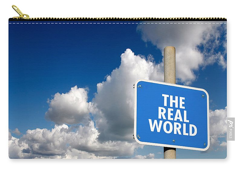 Display Carry-all Pouch featuring the digital art The Real World by Steve Ball