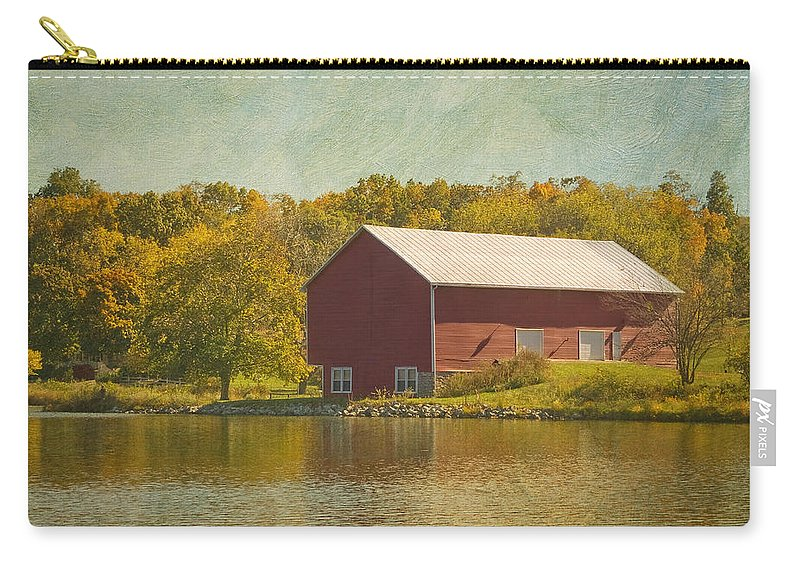 Barn Carry-all Pouch featuring the photograph The Red Barn by Kim Hojnacki