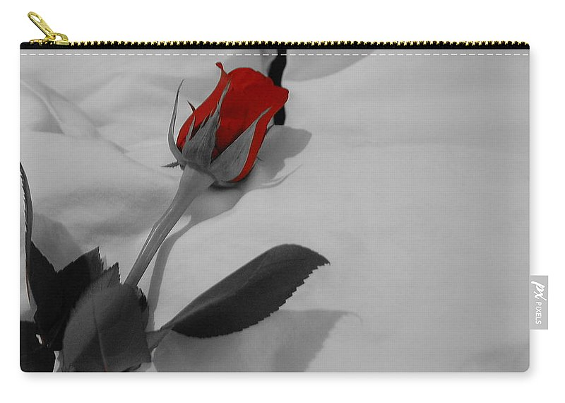 Rose Carry-all Pouch featuring the photograph The Red Rose by Kim Blaylock