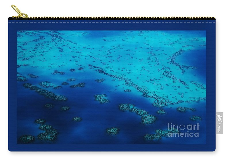 Aerial Art Water Bermuda Atlantic Ocean Stock Shot Travel Relaxing Serene Nautical Theraputic Off Shore The Reefs Turquoise Water Indigo Nature Blues Coral Outcrops Serenity Feng Shui Chains Of Islets Canvas Print Metal Frame Poster Print Available On Phone Cases Tote Bags Pouches Shower Curtains Weekender Tote Bags Beach Towels And Mugs Carry-all Pouch featuring the photograph The Reefs, Bermuda # 10 by Marcus Dagan