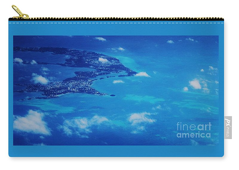 Aerial Art Bermuda The Reefs Island Life Travel Turquoise Water Atlantic Ocean Beauty Little Clouds Serenity Feng Shui Natural Beauty Half A Country Adventure Color Blue Tranquil Canvas Print Metal Frame Poster Print Available On T Shirts Pouches Tote Bags Shower Curtains Mugs Beach Towels Weekender Tote Bags And Phone Cases Carry-all Pouch featuring the photograph Bermuda Blue, Aerial by Marcus Dagan