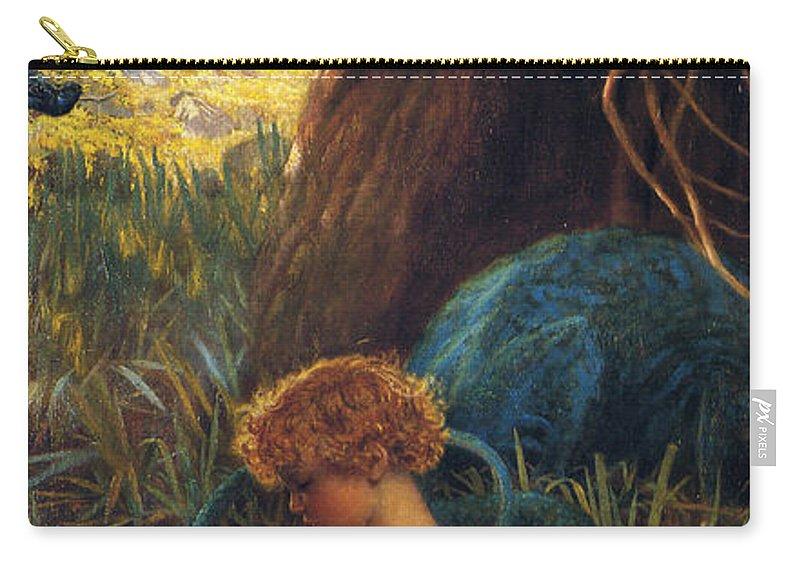 Arthur Hughes Carry-all Pouch featuring the digital art The Rescue by Arthur Hughes