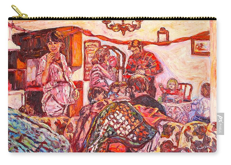 Figure Carry-all Pouch featuring the painting The Rest of the Party by Kendall Kessler