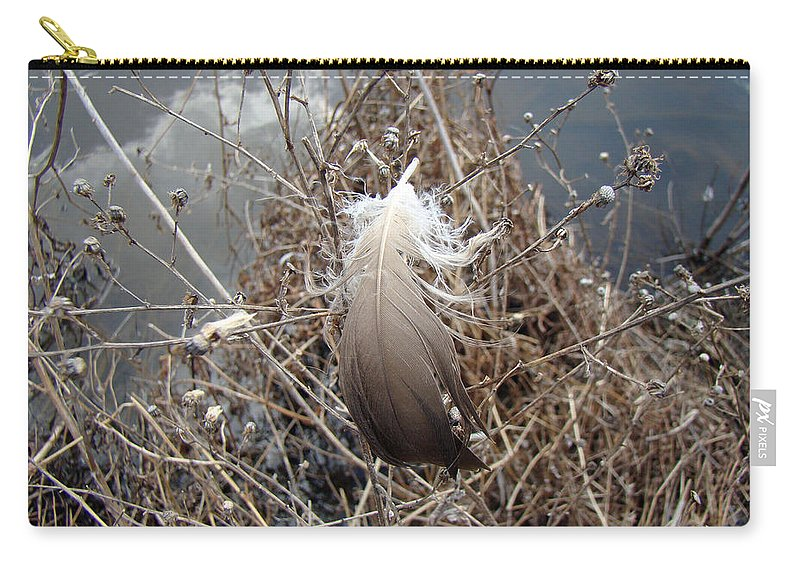 Feather Carry-all Pouch featuring the photograph The Resting Place by Mother Nature