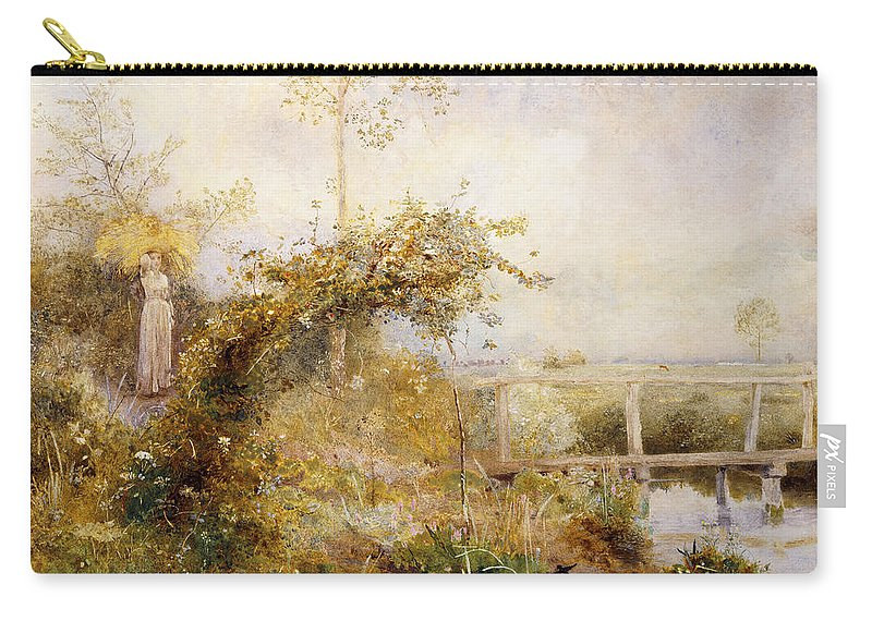 British Carry-all Pouch featuring the painting The Return From The Harvest Field by John William North
