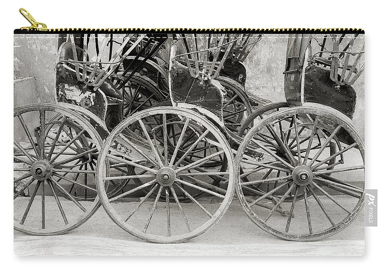 Rickshaw Carry-all Pouch featuring the photograph The Rickshaws by Shaun Higson