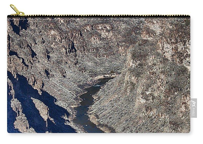 Bridge Carry-all Pouch featuring the photograph The Rio Grande River-arizona by Douglas Barnard