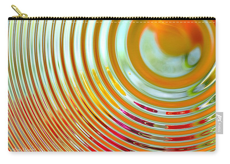 Abstract Carry-all Pouch featuring the digital art The Ripple Effect by Mary Machare
