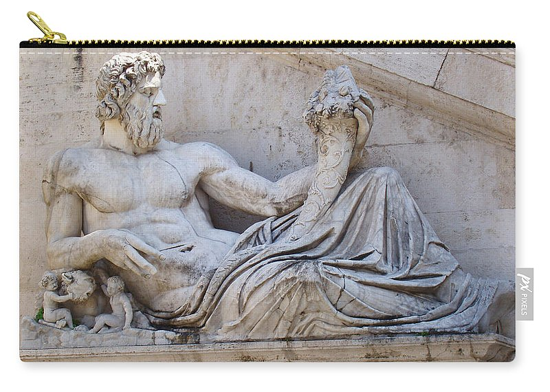 The Tiber Carry-all Pouch featuring the photograph The Tiber by Ellen Henneke