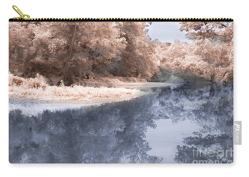 River Carry-all Pouch featuring the photograph The River - Near Infrared by Scott Hervieux
