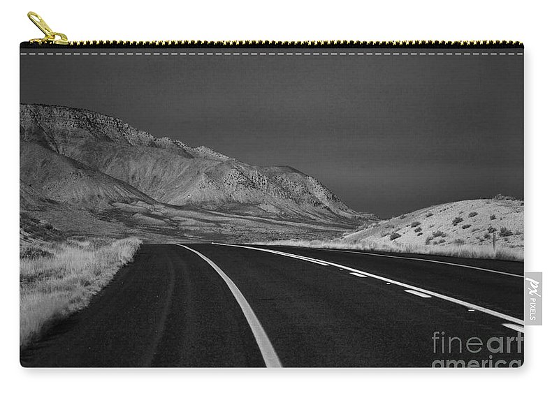 Road Ahead Carry-all Pouch featuring the photograph The Road Ahead-infrared by Douglas Barnard