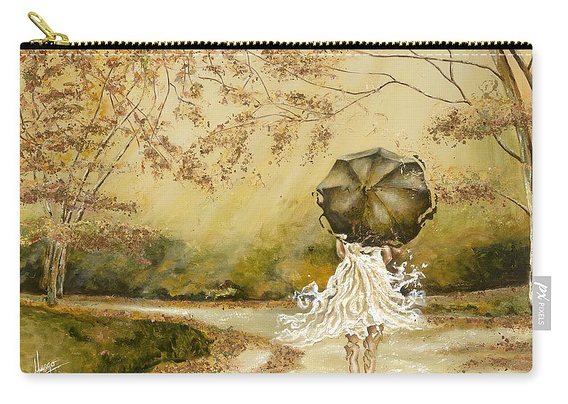 Women Carry-all Pouch featuring the painting The Road by Karina Llergo