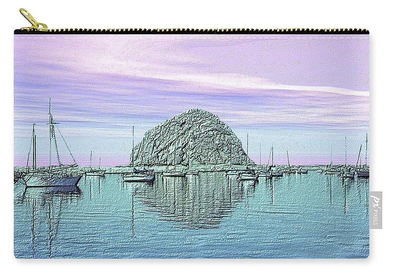 Seascape Carry-all Pouch featuring the photograph The Rock by Kurt Van Wagner