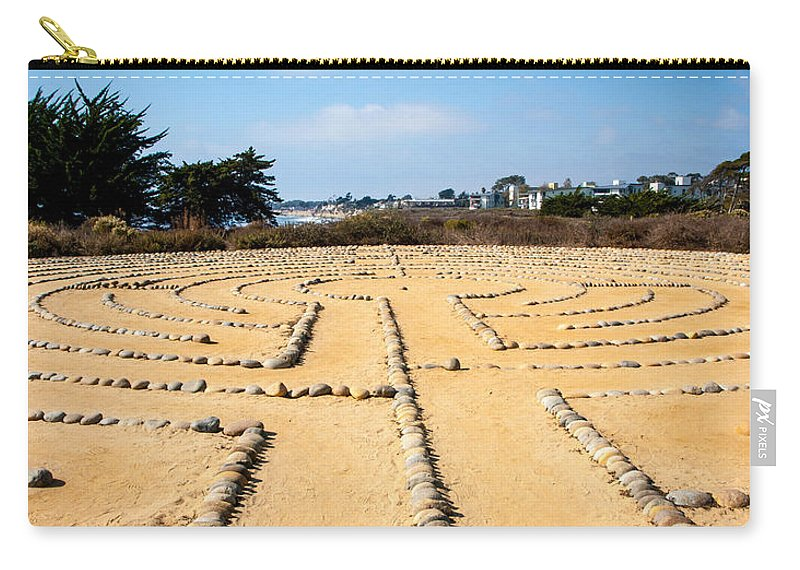 Rocks Carry-all Pouch featuring the photograph The Rock Maze Santa Barbara by Cathy Smith