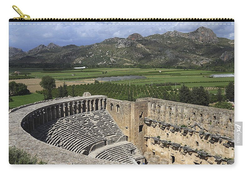 Amphitheatre Carry-all Pouch featuring the photograph The Roman Theatre In Aspendos Antalya Turkey by Ivan Pendjakov