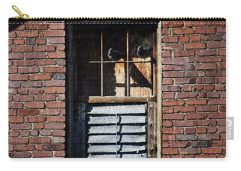 Brick Wall Carry-all Pouch featuring the photograph The Roost by Teresa Mucha