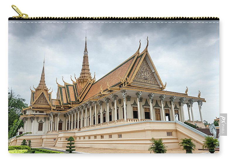 Southeast Asia Carry-all Pouch featuring the photograph The Royal Palace And Silver Pagoda In by Tbradford