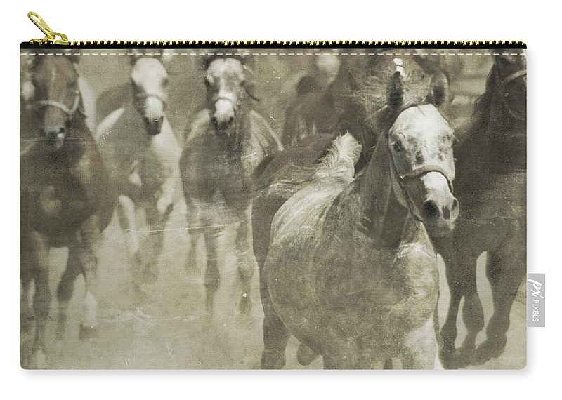 Horse Carry-all Pouch featuring the photograph The Run For Freedom by Angel Tarantella