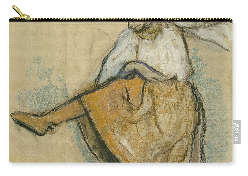 Edgar Degas Carry-all Pouch featuring the painting The Russian Dancer by Edgar Degas