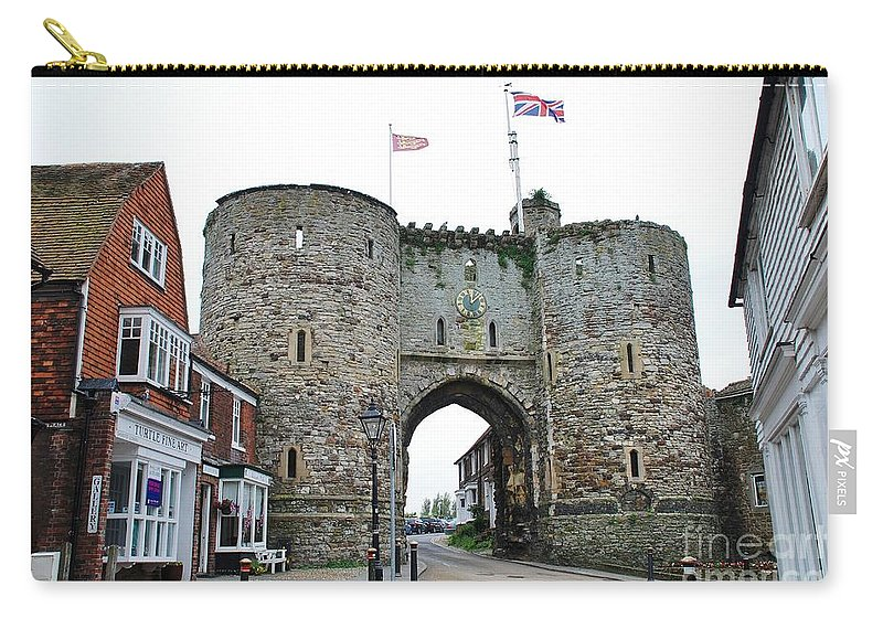 Landgate Carry-all Pouch featuring the photograph The Rye Landgate by David Fowler