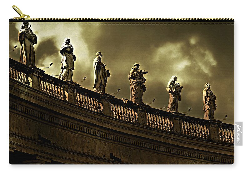 The Saints Carry-all Pouch featuring the photograph The Saints by Micki Findlay