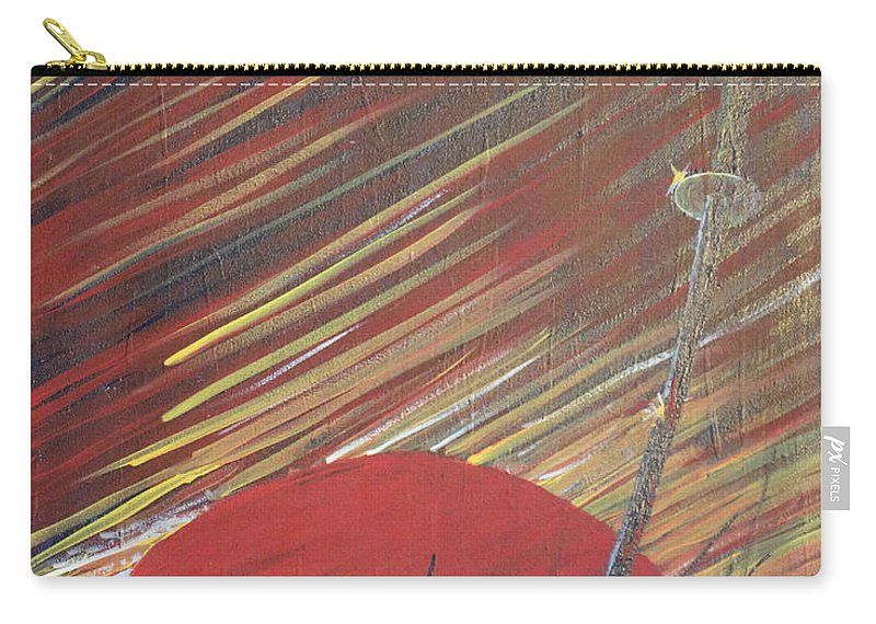 Impressionism Carry-all Pouch featuring the painting The Samurai's Last Stand by Stefan Duncan
