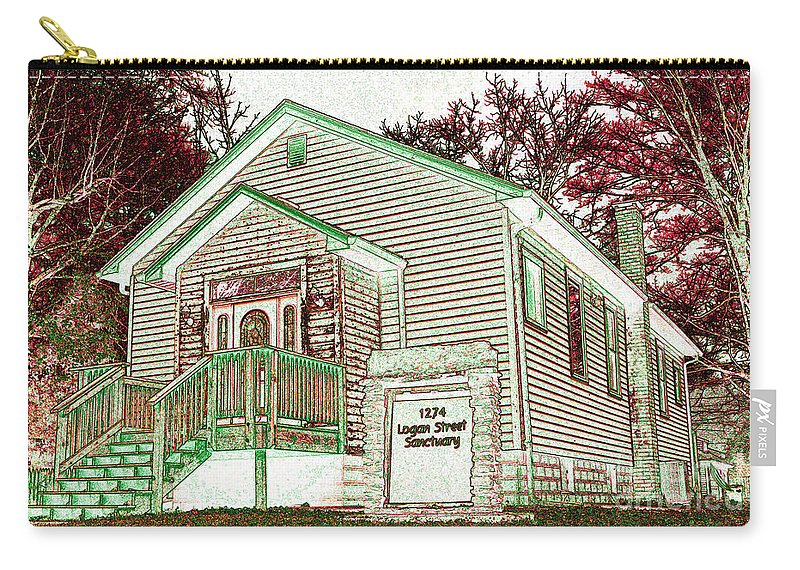 Featured Art Carry-all Pouch featuring the photograph The Sanctuary 2 by Alys Caviness-Gober